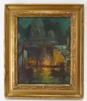 Eliot Clark (Am. 1883-1980) New Delhi o/c