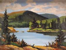 "H. Steinke, ""The Placid Lake"", Oil/ Board, Signed"