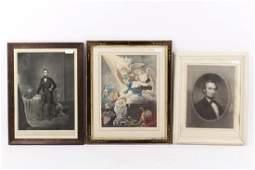 Three Abraham Lincoln Prints