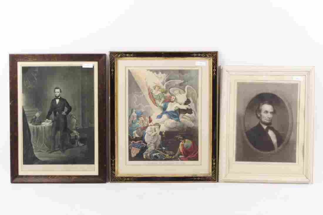 Three Abraham Lincoln Prints
