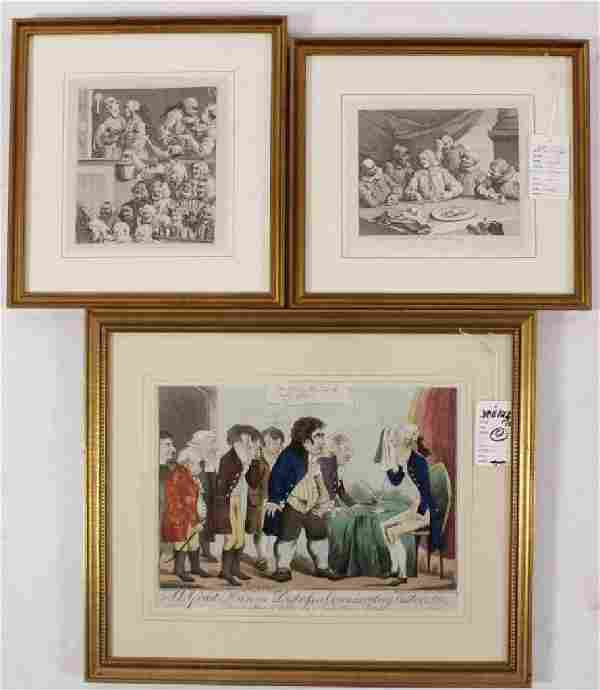 Ten Prints: Hogarth's Marriage a La Mode, 1-6 etc.