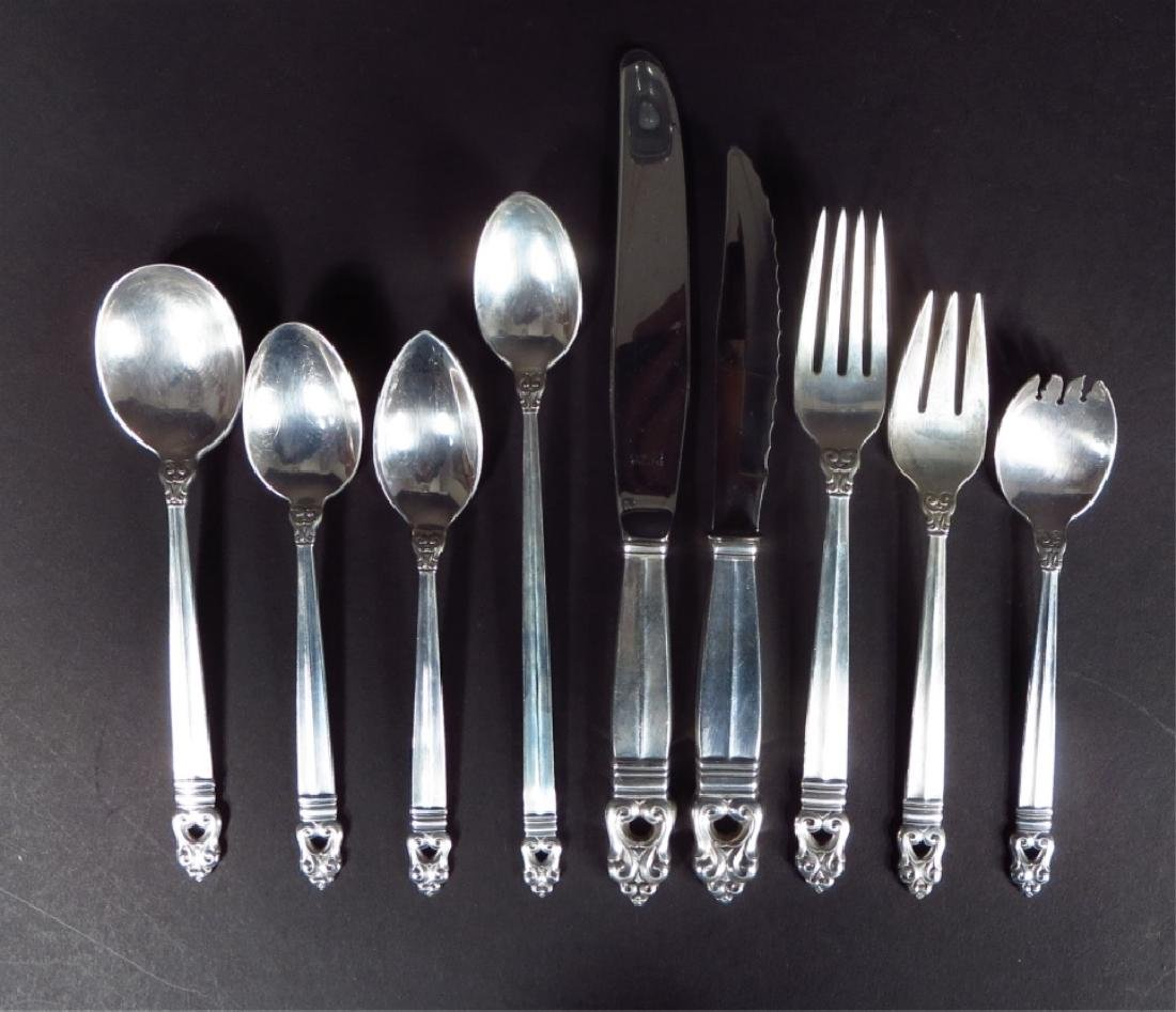 Royal Danish Sterling Svc for Twelve w Additions - 2