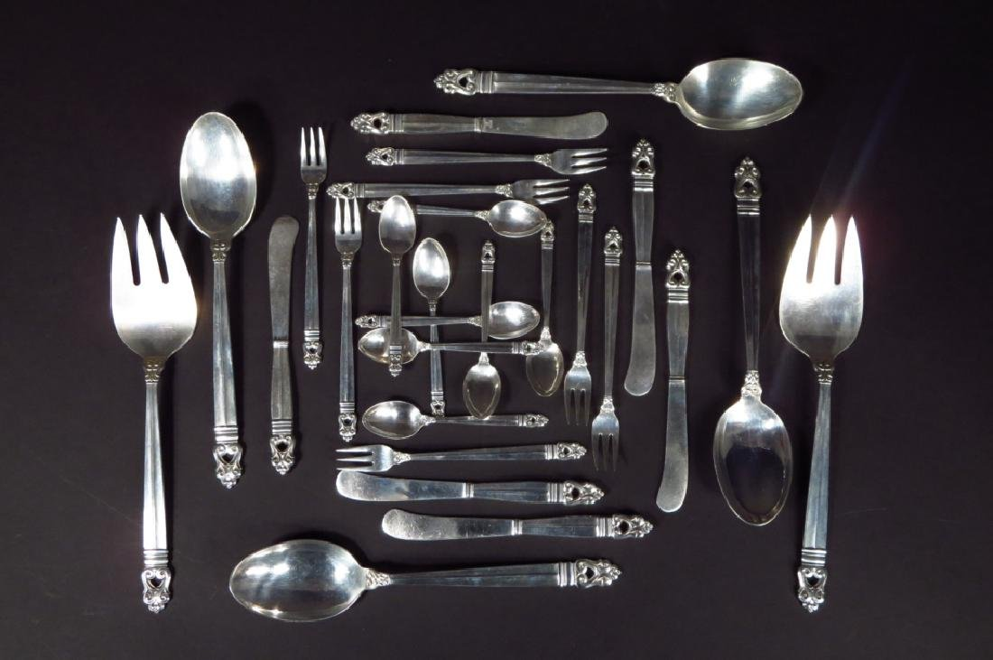 Royal Danish Sterling Svc for Twelve w Additions - 4