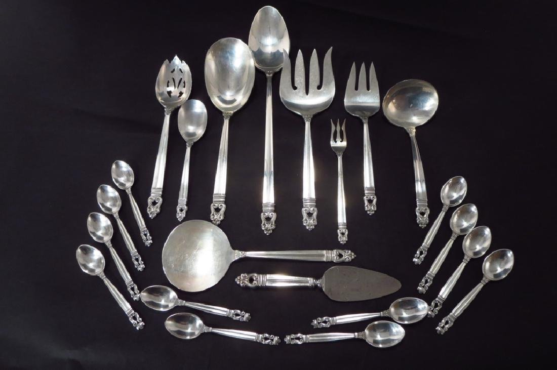 Royal Danish Sterling Svc for Twelve w Additions - 7