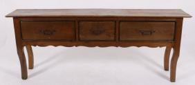 French Provincial Style Walnut Sideboard,