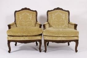 Pair of Louis XV Bergere Arm Chairs early 18th c.