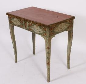 18th C. Italian Neoclassical Painted Lift Top Desk
