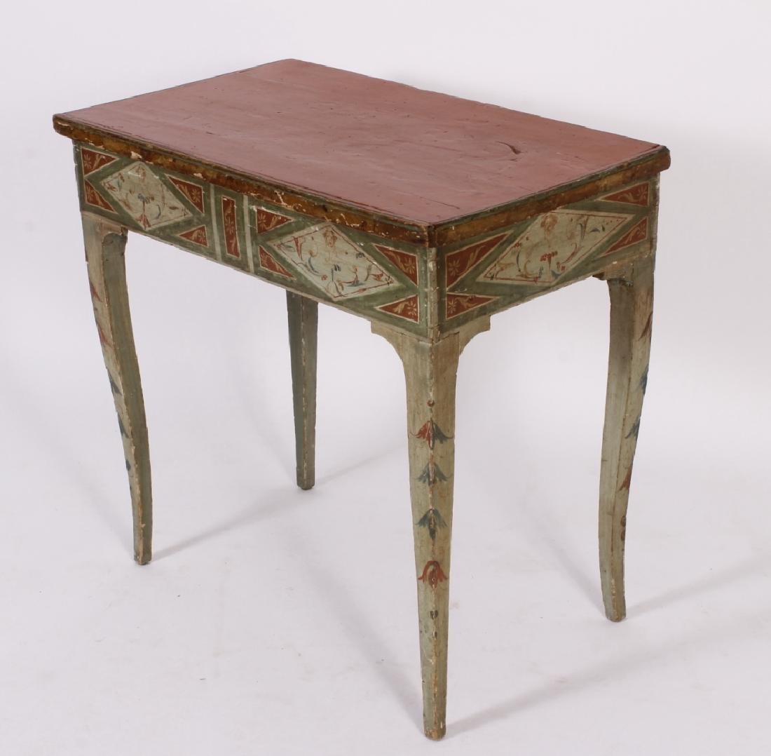 18th C. Italian Neoclassical Painted Lift Top Desk