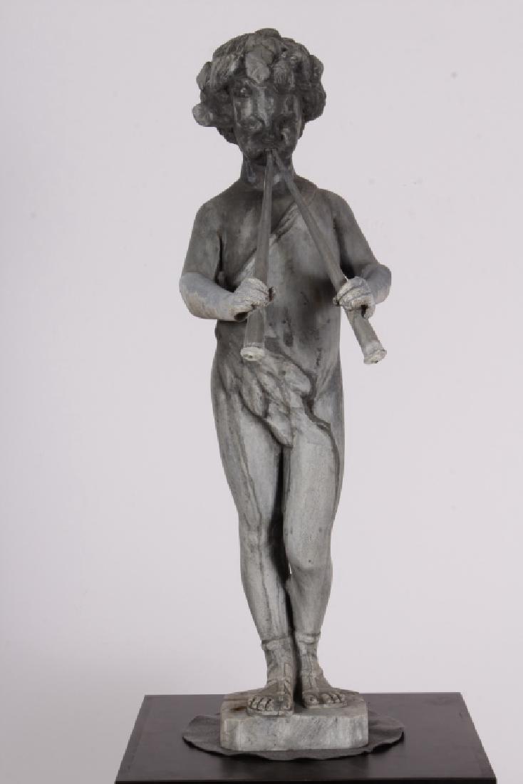 Pan Piper as Garden Fountain Sculpture