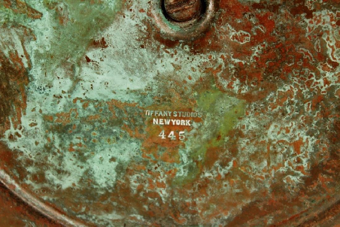 Tiffany Studios Bronze and Favrile Glass Lamp - 6