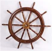 Massive Ships Wheel Doweled Brass Axle