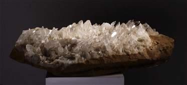 Large Quartz Crystal Cluster Spears Geode