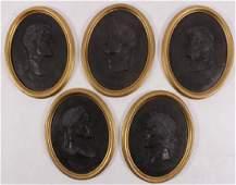 Five Roman Profile Oval Plaques Composite Resin