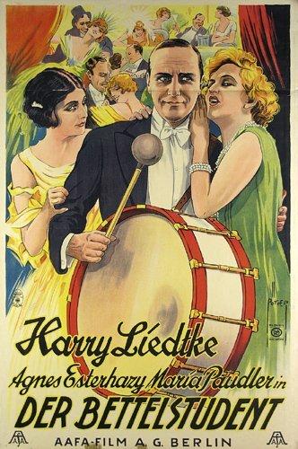 11: Altes Filmplakat 1927 BETTELSTUDENT