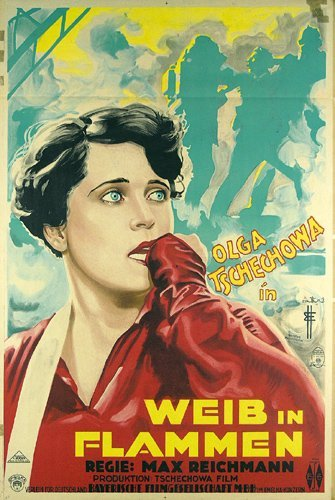 18: Altes Filmplakat 1928 Weib in Flammen