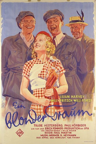19: Altes Filmplakat 1932 Blonder Traum