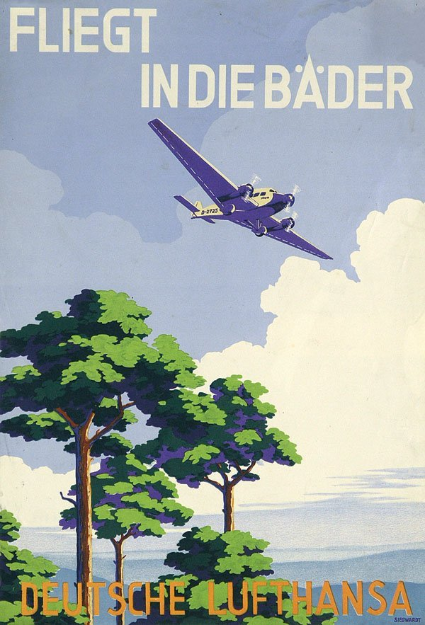 11: Altes Plakat Deutsche Lufthansa 1930