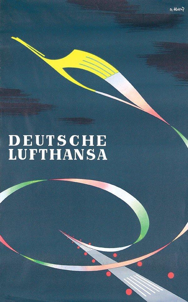 12: Altes Plakat Deutsche Lufthansa