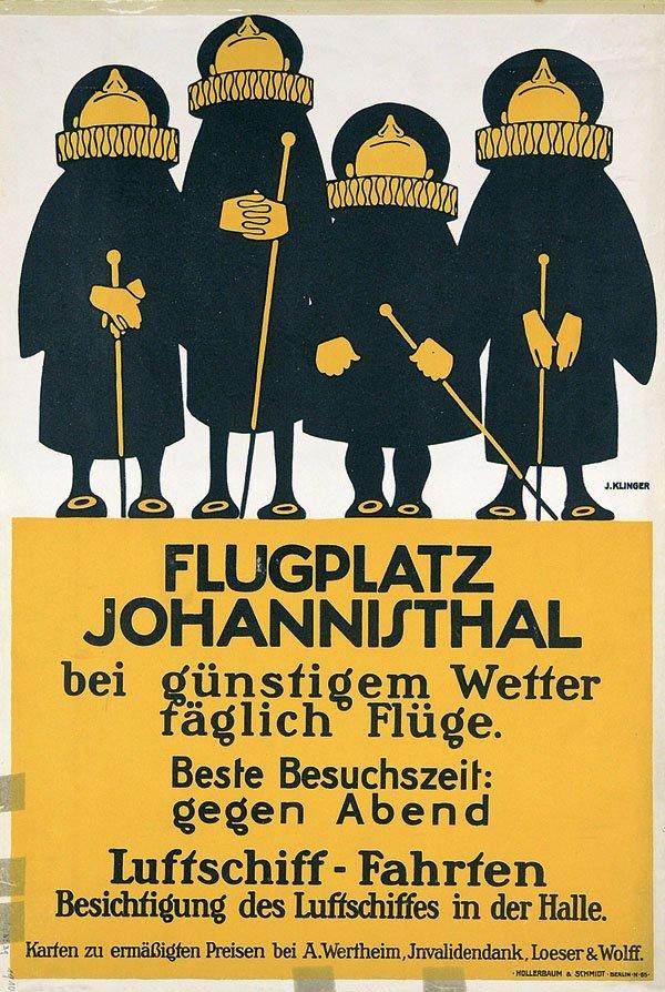 14: Altes Plakat Flugplatz 1913 KLINGER