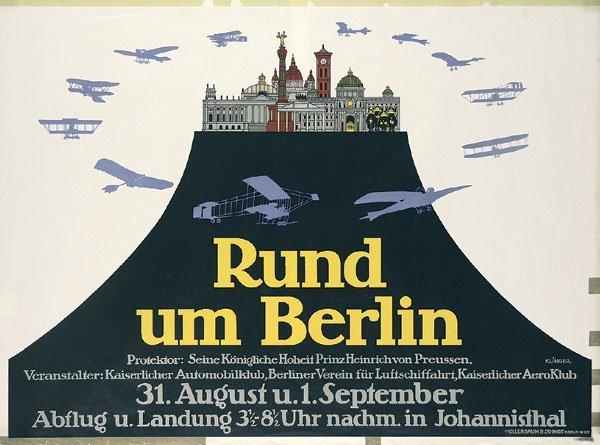 15: Altes Plakat Rund um Berlin KLINGER 1912