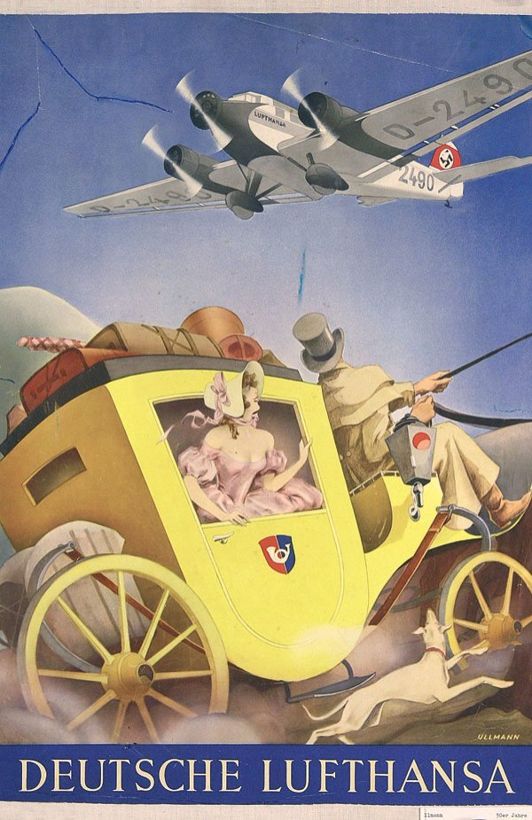 16: Altes Plakat Deutsche Lufthansa 1935