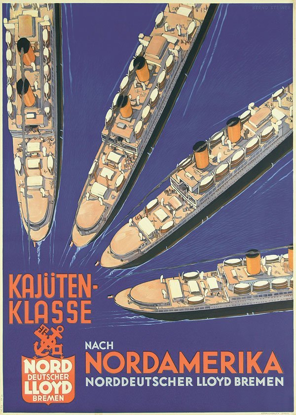 24: Original Plakat NDL Nordamerika STEINER 1931