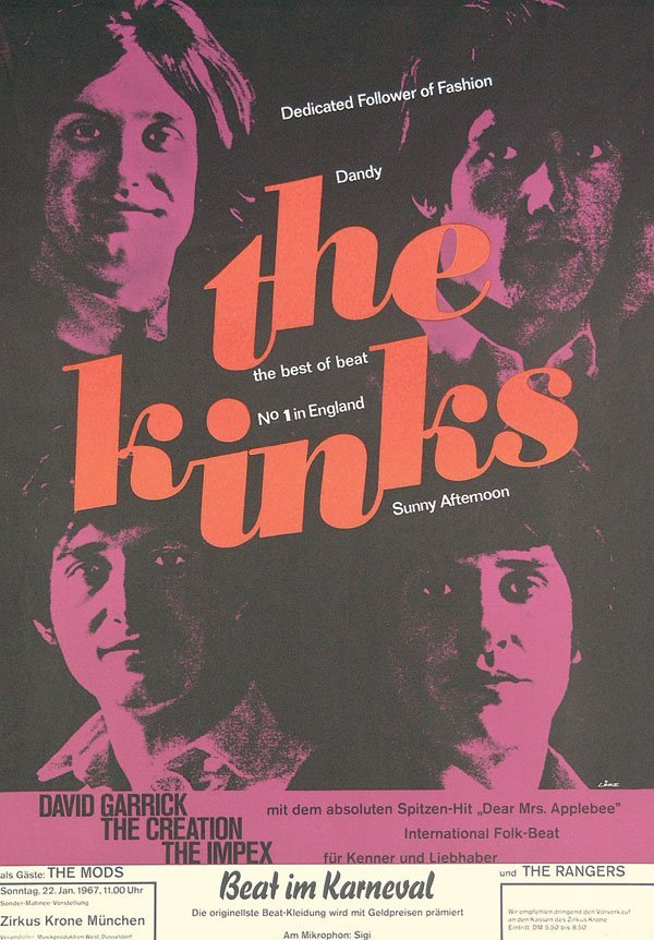 235: Original Plakat the kinks 1967