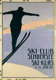 350: Original Plakat Poster Ski-Club Schliersee