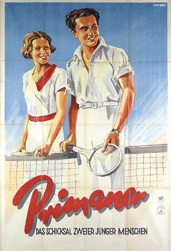 2: ORIGINAL Film Plakat Tennis Poster 1934