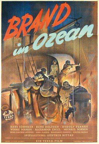 6: ORIGINAL FILM PLAKAT Brand im Ozean