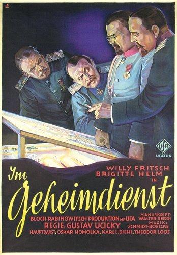 10: ORIGINAL FILM PLAKAT Geheiimdienst 1931