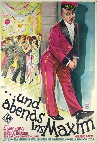 13: ORIGINAL FILM PLAKAT 1928 Maxim