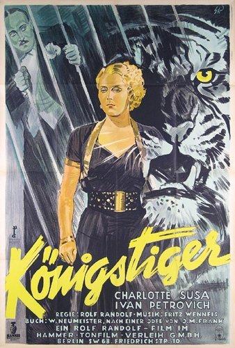 17: Original FILM PLAKAT POSTER Tiger 1935
