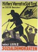 122: Original Politisches Wahl-Plakat 1932 Poster