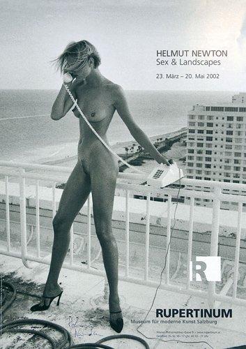 201: ORIG HELMUT NEWTON Poster Signed Sex & Landscapes