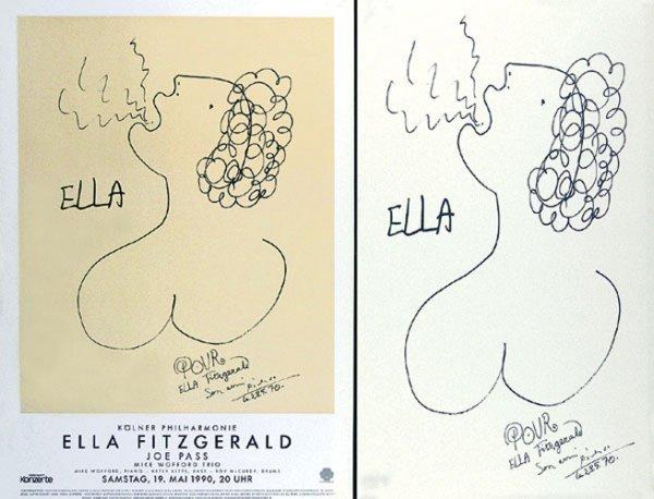 289: Original PICASSO Poster ELLA FITZGERALD 1990