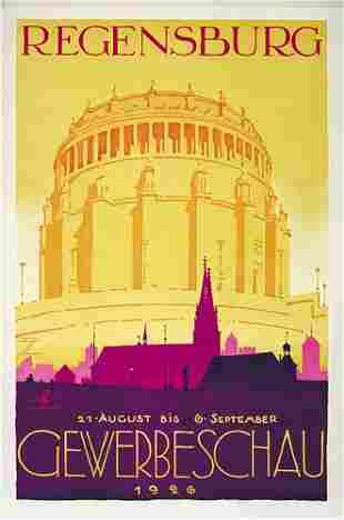 ORIGINAL Ludwig Hohlwein Poster Plakat 1926