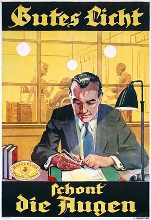 ALTES deutsches Werbeplakat Poster 1935