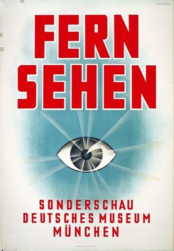 4: Fantastic German TV Auge Poster Plakat 1930s