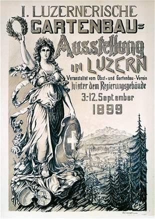 Deutsches ORIGINAL Plakat Poster 1899