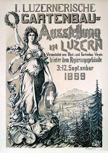5: Deutsches ORIGINAL Plakat Poster 1899