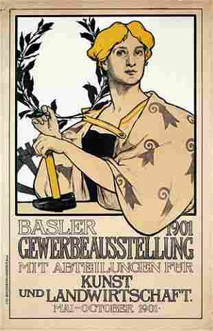 Schweizer Ausstellungsplakat Basel 1901