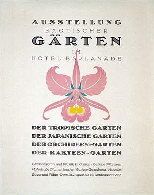 Original Plakat Gartenausstellung 1927