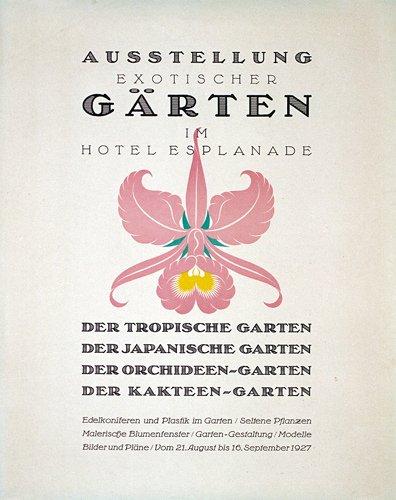 9: Original Plakat Gartenausstellung 1927