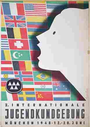 Altes deutsches Werbeplalat 1948