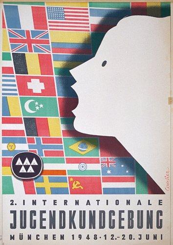 10: Altes deutsches Werbeplalat 1948