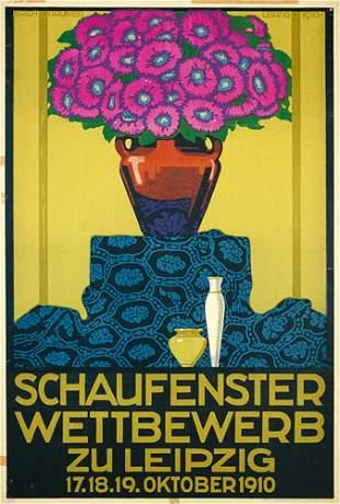 Tolles Originalplakat Poster 1910 Blumen