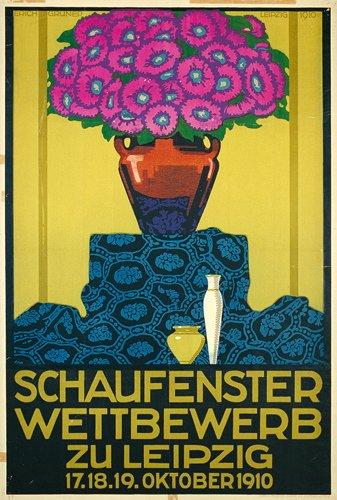 11: Tolles Originalplakat Poster 1910 Blumen