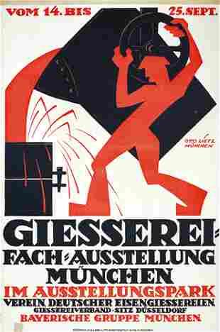 Original Old German Poster Plakat 1911