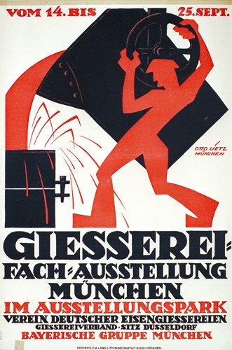12: Original Old German Poster Plakat 1911